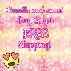 Buy 3, get FREE shipping sale!
